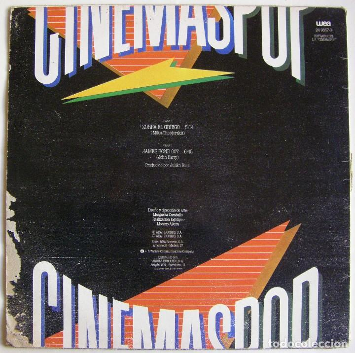 Discos de vinilo: Cinemaspop-Zorba El Griego, WEA 24 9837-0 - Foto 2 - 151490846