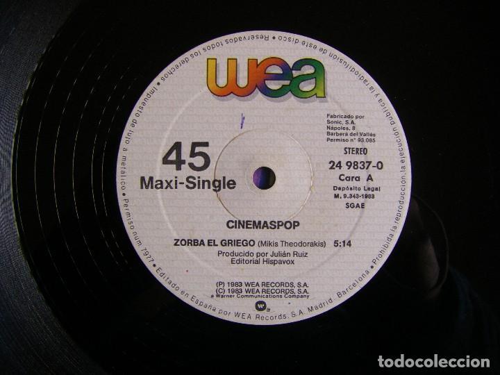 Discos de vinilo: Cinemaspop-Zorba El Griego, WEA 24 9837-0 - Foto 4 - 151490846