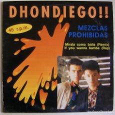 Discos de vinilo: DHONDIEGO-MEZCLAS PROHIBIDAS, HORUS-55.020. Lote 151491362