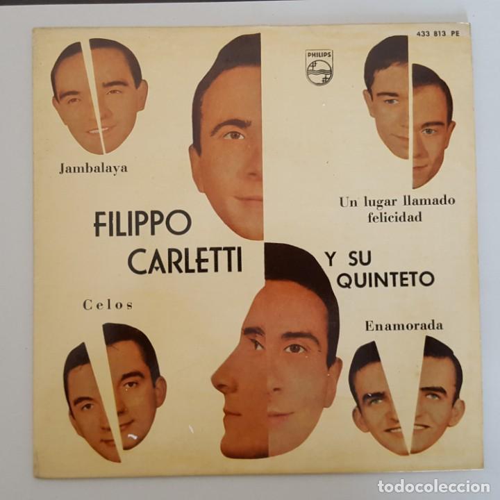 EP / FILIPPO CARLETTI Y SU QUINTETO / JAMBALAYA +3 / PHILIPS 433 813 PE / 1962 (Música - Discos de Vinilo - EPs - Canción Francesa e Italiana)