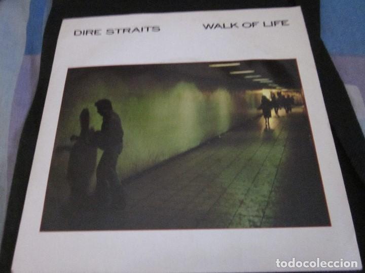 DIRE STRAITS - WALK OF LIFE - SG - EDICION INGLESA DEL AÑO 1985. (Música - Discos de Vinilo - Singles - Pop - Rock Extranjero de los 80)