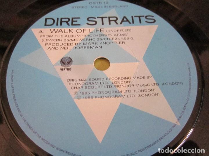 Discos de vinilo: DIRE STRAITS - WALK OF LIFE - SG - EDICION INGLESA DEL AÑO 1985. - Foto 3 - 151495270
