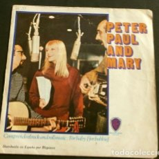 Discos de vinilo: PETER PAUL AND MARY (SINGLE 1967) COMPRENDO EL ROCK AND ROLL MUSIC -I DIG ROCK & ROLL MUSIC-FOR BABY. Lote 151496462