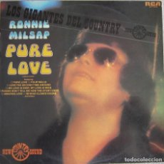 Discos de vinilo: RONNIE MILSAP: PURE LOVE. GIGANTE DEL COUNTRY AMERICANO. Lote 151501330