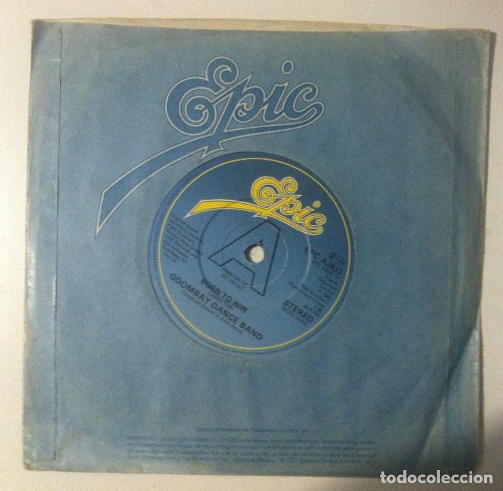 GOOMBAY DANCE BAND - BORN TO WIN / TAKE ME DOWN - SINGLE UK PROMOCIONAL 1982 - EPIC (Música - Discos - Singles Vinilo - Funk, Soul y Black Music)