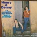 Discos de vinilo: HENRY & DENNY – LA RUMBITA DEL BARCO SELLO: COLUMBIA – MO1614 FORMATO: VINYL, 7 , 45 RPM, SINGLE . Lote 151512954