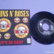 Discos de vinilo: SINGLE. PROMOCIONAL. GUNS ´N´ ROSES - IT´S SO EASY- SPAIN. AÑO 1987. WEA 1235.. Lote 151517186