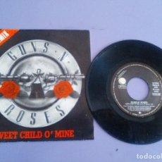 Discos de vinilo: SINGLE PROMO.GUNS N' ROSES NEW REMIX SWEET CHILD O'MINE.1988.LAS DOS CARAS EL MISMO TEMA.GEFFEN 996.. Lote 151519274