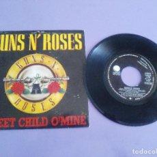 Discos de vinilo: SINGLE. PROMOCIONAL.GUNS N' ROSES - SWEET CHILD O'MINE/WELCOME TO THE JUNGLE.1987. WEA 1202.. Lote 151520330