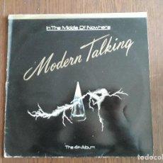 Discos de vinilo: DISCO VINILO LP MODERN TALKING, IN THE MIDDLE OF NOWHERE. HANSA AÑO 1986. Lote 151526266