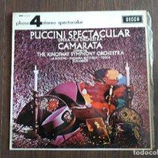 Discos de vinilo: DISCO VINILO LP PUCCINI SPECTACULAR, OPERA PARA ORQUESTA CAMARATA. STEREO PFS 4115 AÑO 1967. Lote 151528666