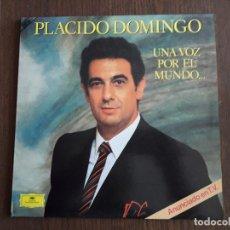 Discos de vinilo: DISCO VINILO DOBLE LP PLÁCIDO DOMINGO, UNA VOZ POR EL MUNDO. DEUTSCHE GRAMMOPHON 1984. Lote 151530930