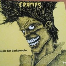 Discos de vinilo: THE CRAMPS BAD MUSIC FOR BAD PEOPLE LP VINILO AMARILLO. Lote 210584470