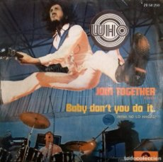Discos de vinilo: THE WHO- JOIN TOGETHER- SG. - ED. ESPAÑOLA- 1973. Lote 151535970