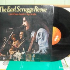 Discos de vinilo: THE EARL SCRUGGS REVUE LIVE FROM AUSTIN CITY LIMITS LP SPAIN 1977 PDELUXE. Lote 151549602