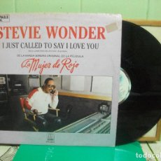 Discos de vinilo: STEVIE WONDER I JUST CALLED TO SAY I LOVE YOU MAXI SPAIN 1984 PDELUXE. Lote 151550178