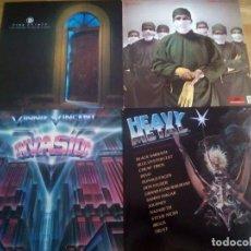 Discos de vinilo: LOTE 4 VINILOS HEAVY HARD ROCK. Lote 151554710