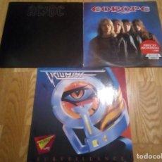Discos de vinilo: LOTE 3 VINILOS HEAVY HARD ROCK. Lote 151555358