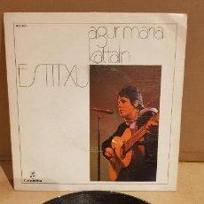Discos de vinilo: ESTITXU / AGUR MARIA / SG-COLUMBIA - 1972 / MBC. ***/***. Lote 151583654