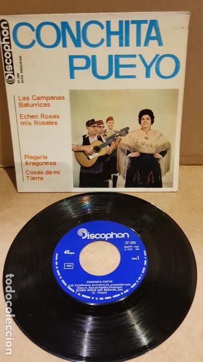 CONCHITA PUEYO / LAS CAMPANAS BATURRICAS / EP-DISCOPHON - 1964 / MBC. ***/*** (Música - Discos de Vinilo - EPs - Country y Folk)