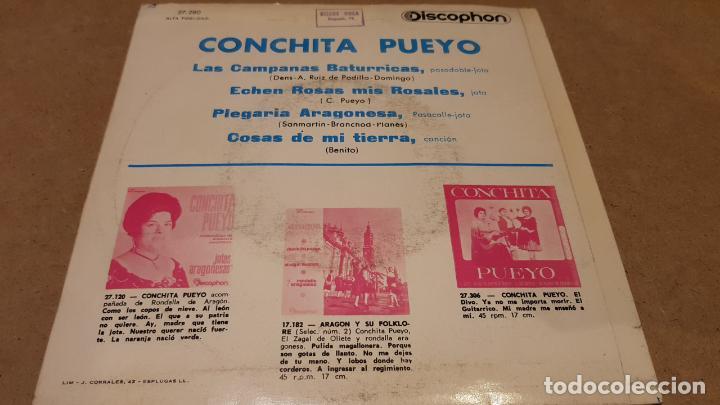 Discos de vinilo: CONCHITA PUEYO / LAS CAMPANAS BATURRICAS / EP-DISCOPHON - 1964 / MBC. ***/*** - Foto 2 - 151584458