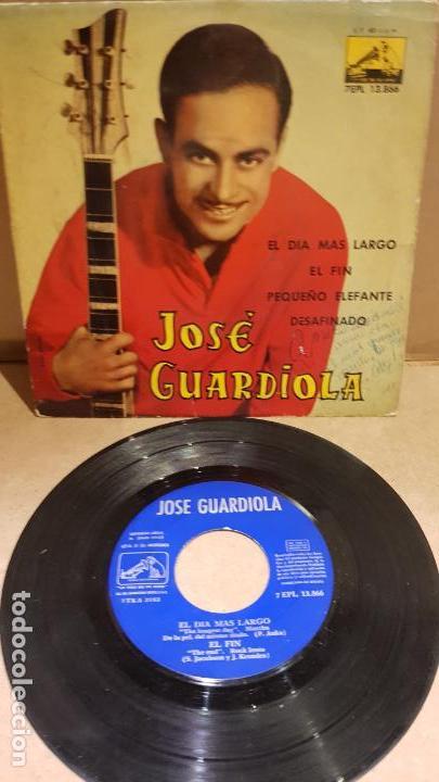 JOSÉ GUARDIOLA / EL DÍA MÁS LARGO / EP-LA VOZ DE SU AMO - 1962 / MBC. ***/*** (Música - Discos de Vinilo - EPs - Solistas Españoles de los 50 y 60)