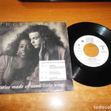Discos de vinilo: TUCK & PATTI CASTLES MADE OF SAND / LITTLE WING SINGLE VINILO PROMO DEL AÑO 1989 ESPAÑA JIMI HENDRIX. Lote 151586486