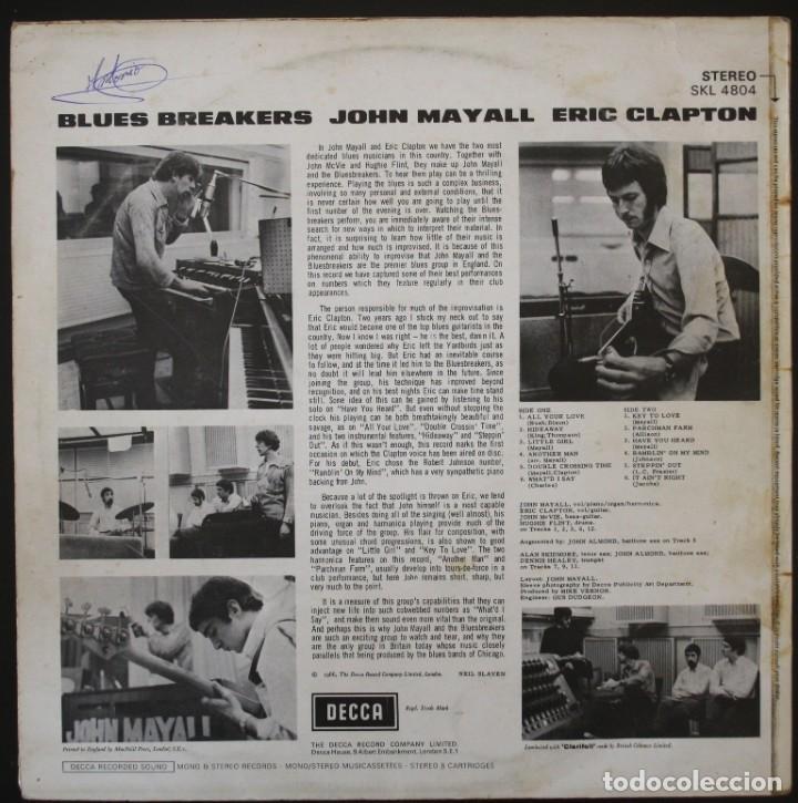 Discos de vinilo: JOHN MAYALL BLUES BREAKERS CON ERIC CLAPTON - Foto 2 - 151599686