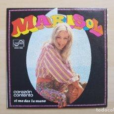 Disques de vinyle: MARISOL - CORAZÓN CONTENTO - SI ME DAS LA MANO - SINGLE - VINILO - ZAFIRO - 1968. Lote 176337732