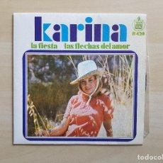 Disques de vinyle: KARINA - LA FIESTA - LAS FLECHAS DEL AMOR - SINGLE - VINILO - HISPAVOX - 1968. Lote 151606654