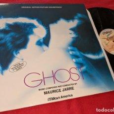 Discos de vinilo: GHOST BSO OST MAURICE JARRE LP 1990 MILAN FRANCIA FRANCE VINILO. Lote 151609858