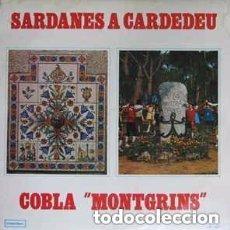 Discos de vinilo: COBLA MONTGRINS – SARDANES A CARDEDEU - LP INTERDISC 1975. Lote 151612134