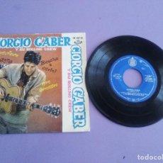 Discos de vinilo: JOYA EP 1961.GIORGIO GABER Y SU ROLLING CREW.GENEVIEVE/LA CONCHIGLIA/BENZINA E CERINI/NON ARROSIRE. Lote 151616826