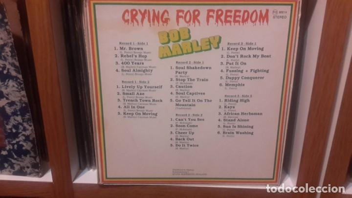 Discos de vinilo: Bob Marley - Crying for freedom -Caja de 3 Lps Holland - Foto 2 - 151617614