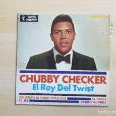 Discos de vinilo: CHUBBY CHECKER - EL REY DEL TWIST - SINGLE - VINILO - CAMEO - 1963. Lote 151623214