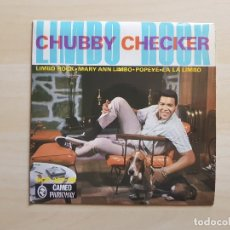 Discos de vinilo: CHUBBY CHECKER - LIMBO ROCK - SINGLE - VINILO - CAMEO - 1963. Lote 151624074