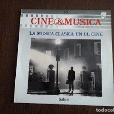 Discos de vinilo: DISCO VINILO LP CINE & MÚSICA, LA MÚSICA CLÁSICA EN EL CINE, SALVAT. AÑO 1988. Lote 151630486