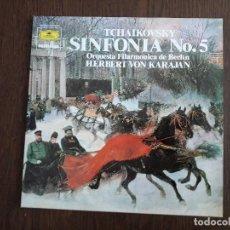 Discos de vinilo: DISCO VINILO LP TCHAIKOVSKY, SINFONÍA Nº 5. ORQUESTA FILARMÓNICA DE BERLÍN. DEUTSCHE G. AÑO 1984. Lote 151633206