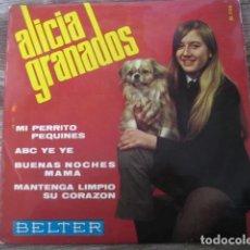 Discos de vinilo: ALICIA GRANADOS - ABC YE YÉ + 3 ***** RARO EP CHICA YE YÉ 1966, GRAN ESTADO. Lote 151653514