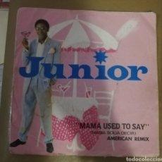 Discos de vinilo: JUNIOR. MAMA USED TO SAY. Lote 151653918