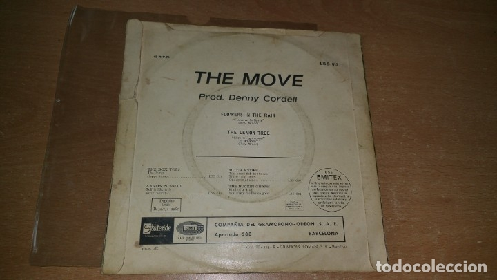 Discos de vinilo: 2 Single THE MOVE Blackberry Way / Flowers in the rain - año 1967 68 Spain - Foto 4 - 78533657