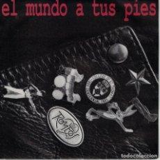 Discos de vinilo: LOS ROMEOS - EL MUNDO A TUS PIES (SINGLE PROMO ESPAÑOL, HISPAVOX 1990). Lote 151680846