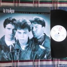 Discos de vinilo: LA TRAMPA LP BAILANDO ROCK N ROLL 1992 GATEFOLD. Lote 151688330