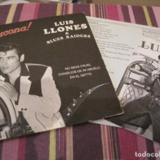 Discos de vinilo: EP LUIS LLONES & BLUES RAIDERS BESUCONA NEO ROCKABILLY ELVIS COVERS+INSERT+POSTAL. Lote 151702526