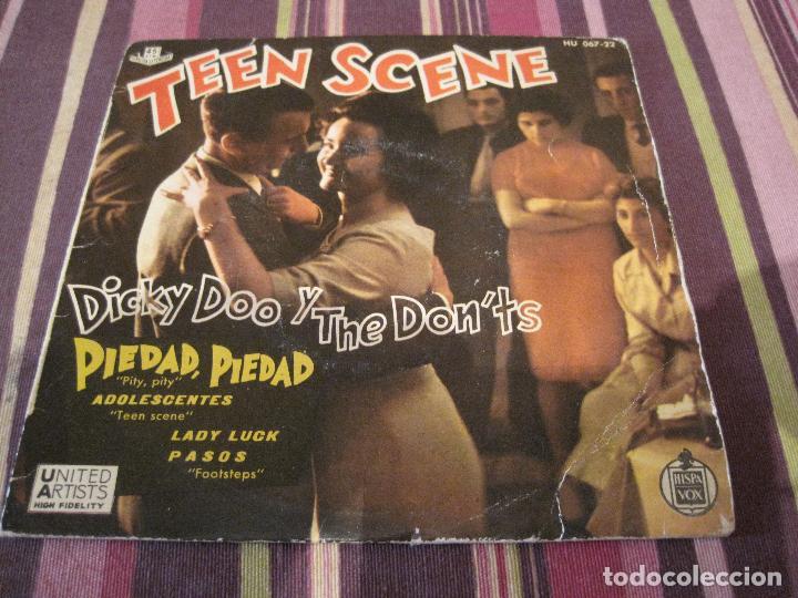 EP DICKY DOO & THE DON´TS TEEN SCENE HISPAVOX 067 22 SPAIN (Música - Discos de Vinilo - EPs - Rock & Roll)