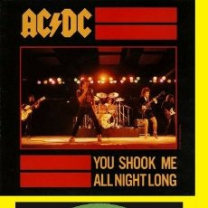 Discos de vinilo: AC DC - YOU SHOOK ME ALL NIGHT LONG / HAVE A DRING ON ME 1980, ORG EDT UK, TODO EXC. Lote 151713442