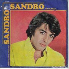 Discos de vinilo: SANDRO - SE TE NOTA / TE QUIERO TANTO, AMADA MIA (SINGLE ESPAÑOL, CBS 1970). Lote 151717586