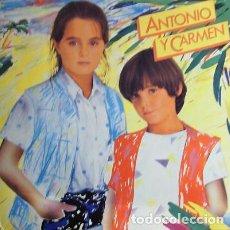 Discos de vinilo: ANTONIO Y CARMEN – SOPA DE AMOR - LP SPAIN 1982. Lote 151719442