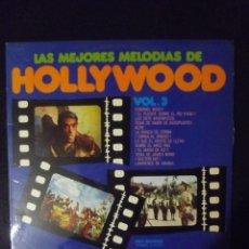 Discos de vinilo: LAS MEJORES MELODÍAS DE HOLLYWOOD VOL 2 Y 3. Lote 151732086