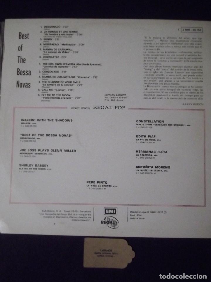 Discos de vinilo: lp - best of the bossa novas regal 1972 - Foto 2 - 151748042